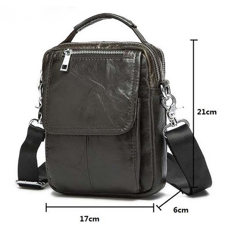 Genuine Leather Men Bag Small Shoulder Bags Men S