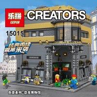 В наличии Лепин 15015 5003 шт. город улица динозавра музей модель здания Наборы блоки Кирпич совместимые для детей игрушки подарок