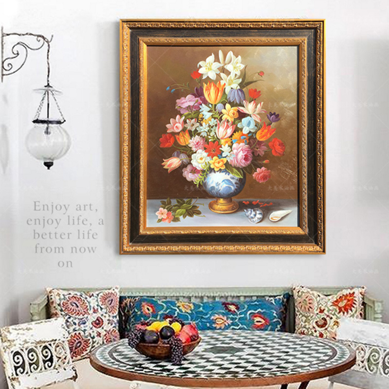 Hand Painted Flower Oil Painting Living Room Decor Picture Kitchen Dining Room Decor Canvas Still Lifes