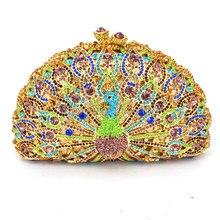 LaiSC Luxus Kristall Abendtasche Pfau Clutch diamant parteigeldbeutel pochette soiree Frauen abend-handtasche