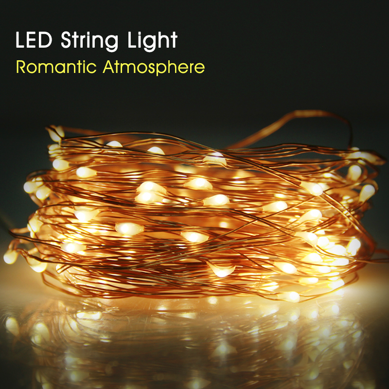 Ultra Bright LED String Lights With Copper Wire Outdoor Lighting Strings  Waterproof Fairy Lights For Christmas