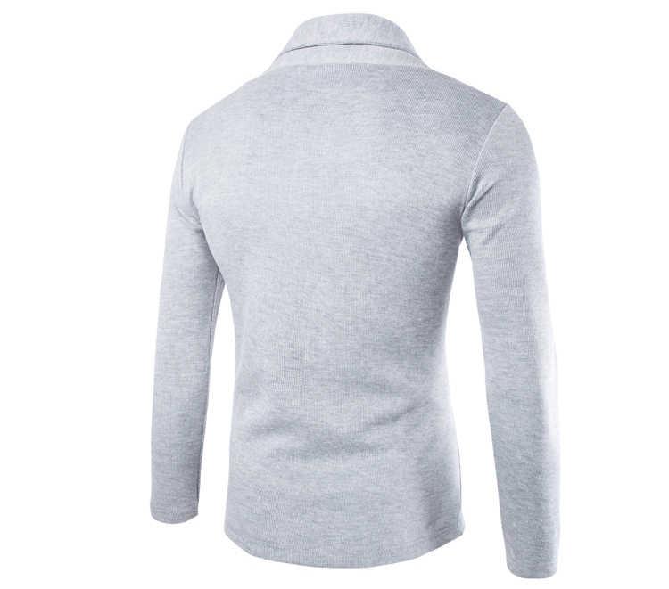 Высокое качество, осенне-зимнее пальто, Мужской Повседневный Кардиган, мужской классический Однотонный свитер с v-образным вырезом, теплая трикотажная куртка