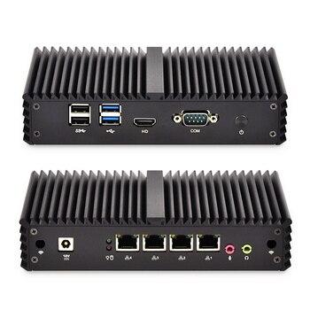 4 * Gigabit Ethernet RJ-45 Lan порты Мини ПК роутеры i5 i7 безопасности AES-NI безвентиляторный Qotom Pfsense межсетевой экран