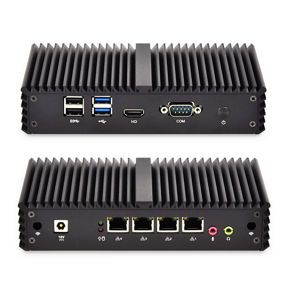 4 * Gigabit Ethernet Router RJ-45 Porte Lan Mini PC i5 i7 di sicurezza AES-NI Fanless Qotom Pfsense Firewall