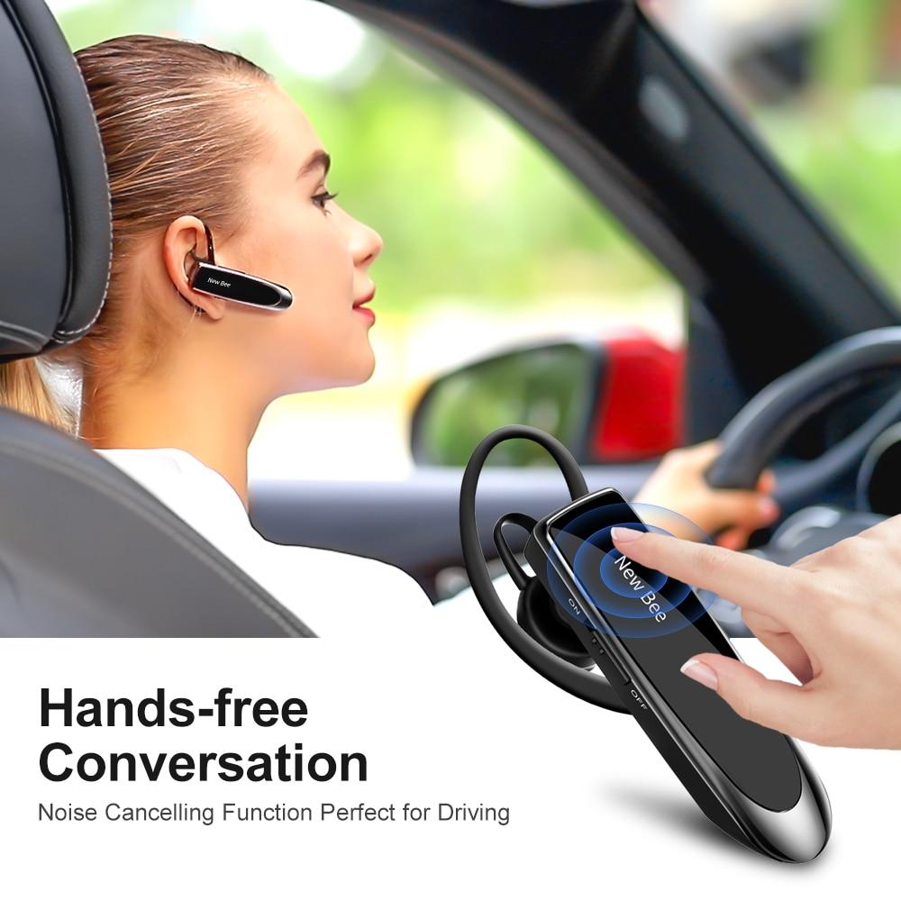 New Bee Bluetooth Headset Bluetooth 5 0 Earpiece Hands free Headphone Mini Wireless Earphone Earbud Earpiece