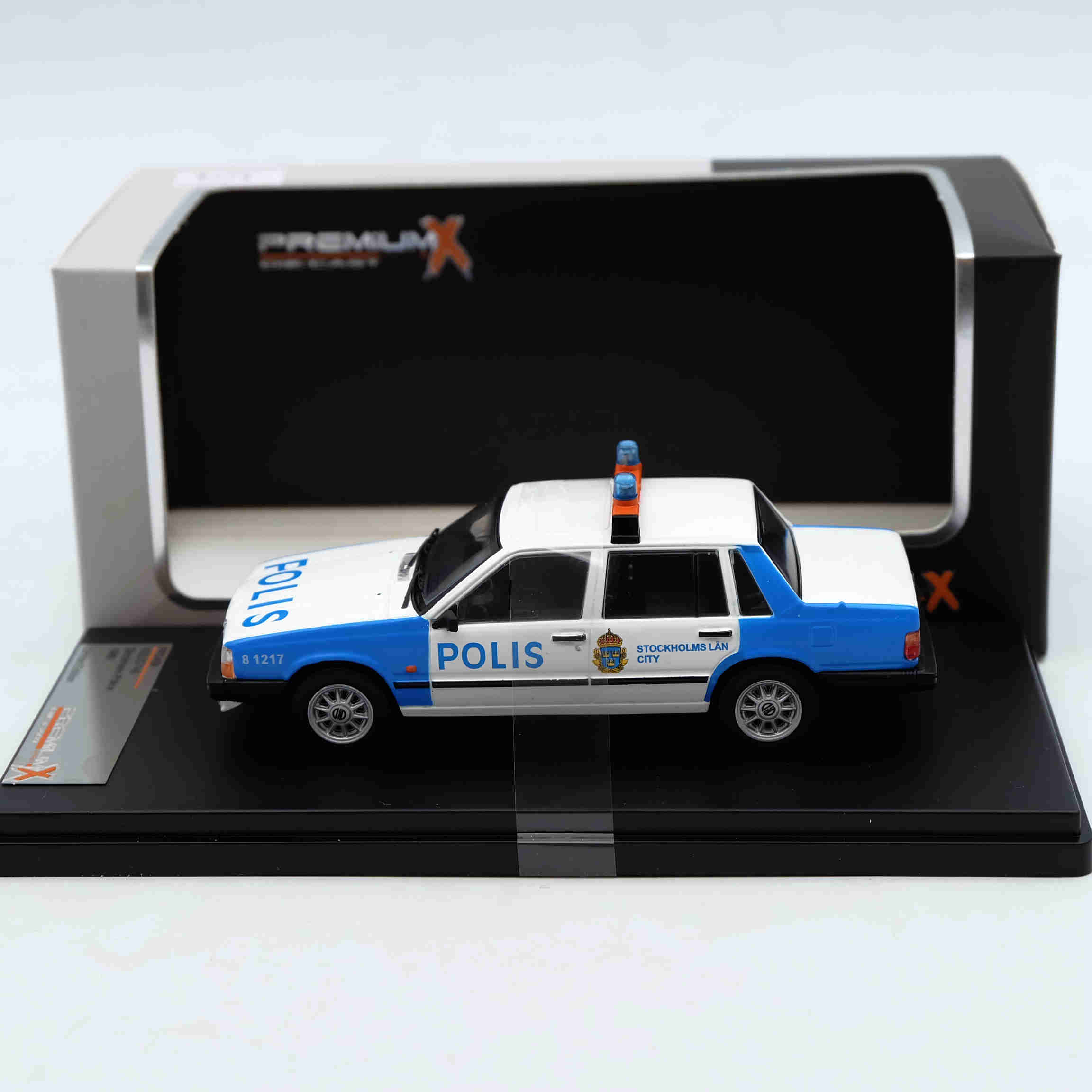 Premium X 1:43 Volvo 740 Stockholm Police PRD439 Resin Models Car Limited Edition Auto Collection ixo premium x 1 43 stutz blackhawk coupe 1971 red prd002 limited edition collection resin auto models