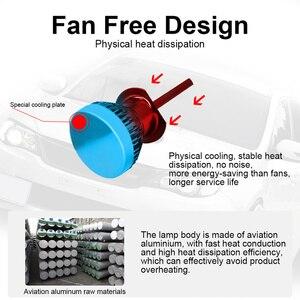 Image 5 - Kingsofe Kit de Conversion déclairage de voiture 2xLed H4 H7 H1 H11 9006 9005 9012, phare Led à 360 degrés, ampoules COB 90W 12000LM