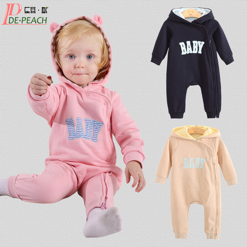 Spring Autumn Baby Brand Clothes Cotton Baby Rompers Newborn Boys Letter Baby Girl Jumpsuit Infant Baby vestido infantil overall 2016 autumn newborn baby rompers fashion cotton infant jumpsuit long sleeve girl boys rompers costumes baby clothes