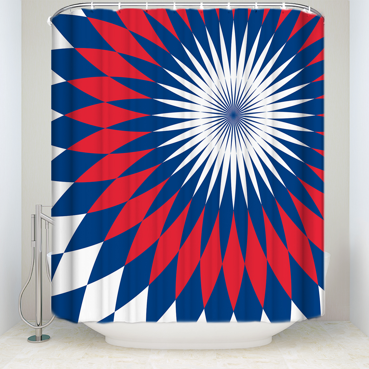 New Arrival Waterproof Ethnic Tribe Pattern Shower Curtain Polyester