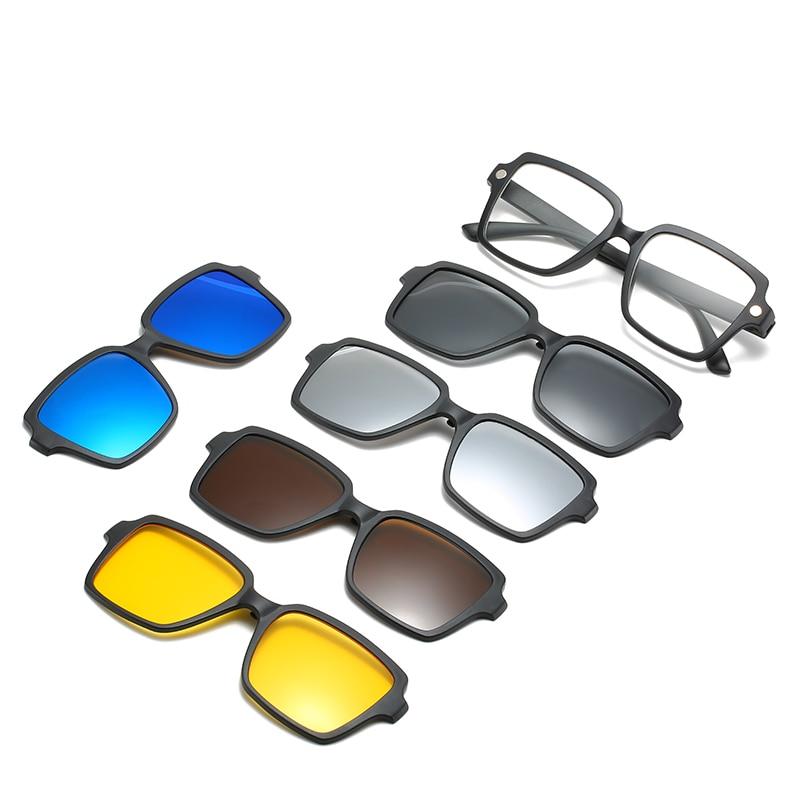 be17151083 5 lenes imán gafas de sol de espejo Clip en gafas de sol Clip en gafas
