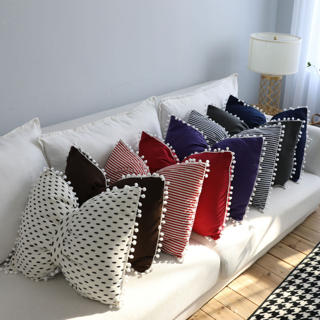 WLIARLEO Europe Sofa Cushion Throw Bowknot Shape 3d emoji pillows ...