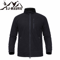 SJ MAURIE Men Hiking Jacket Hunting Tactical Softshell Fleece Jacket Outdoor Sport Hiking Jacket Tactical Shirt Hunting Clothes