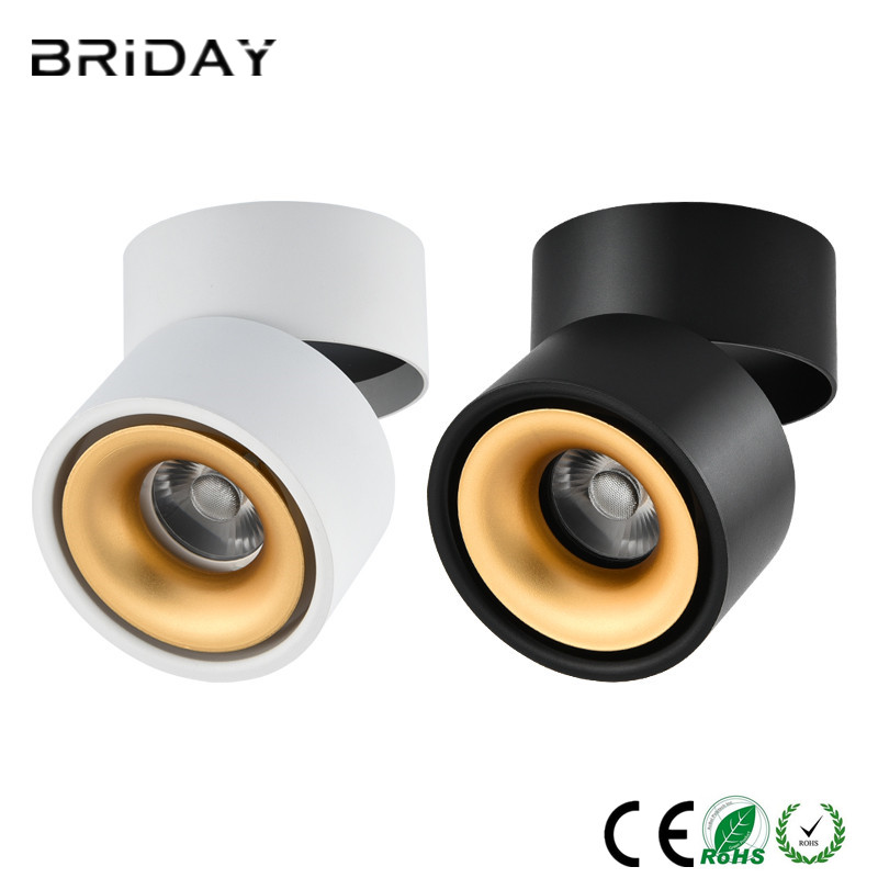 COB LED Ceiling Light 5W 7W 12W Surface Mounted LED Ceiling Lamps Spot Light 360 Degree Rotation Cloth Shop Down lights