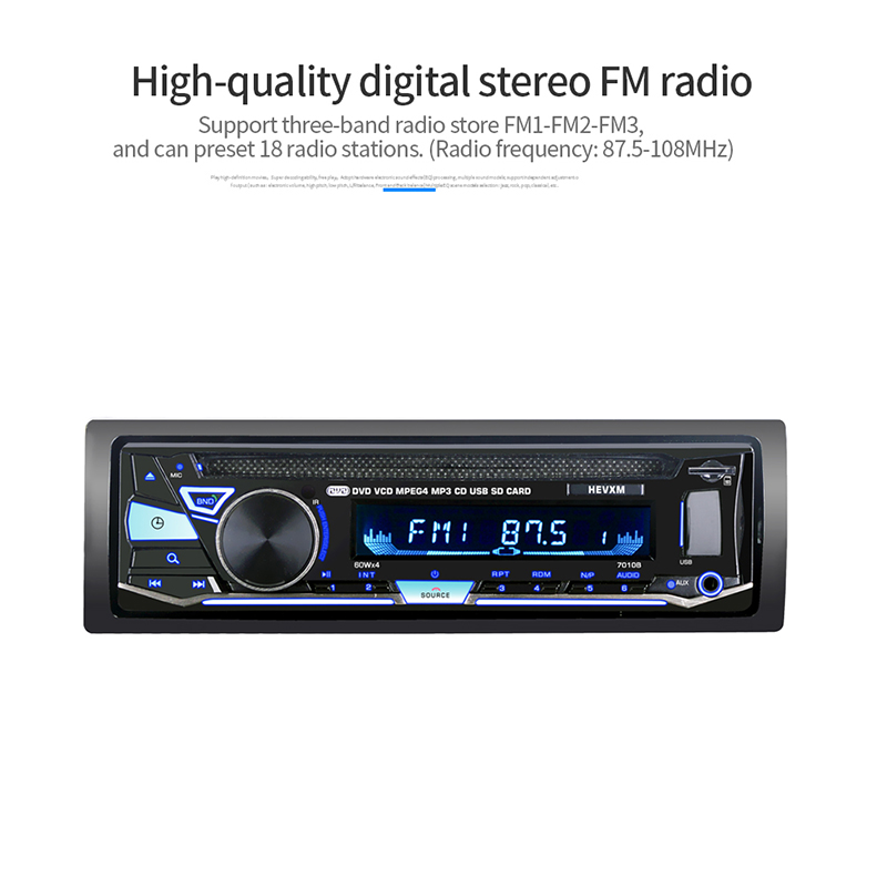 Auto Parts Single 1 Din 12V Car DVD CD Player with Vehicle MP3 Stereo Handfree Autoradio Audio Radio Wireless Remote Control new kokko 2 inch 1 wah vol guitar pedal kw 1 mini wah volume combination multi effects pedal guitar accessories