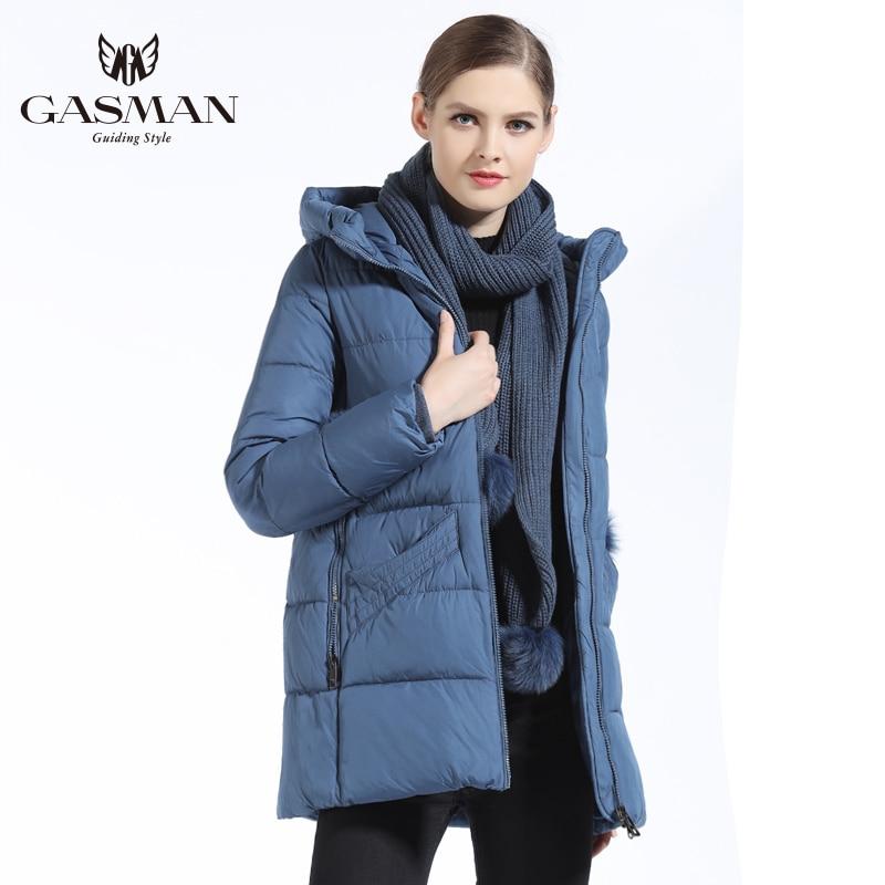 GASMAN 2018 New Winter Women's Down Outerwear   Parkas   Fashion Jacket Women Coat Thick With Scarf Warm Women Coat Plus Size 3XL
