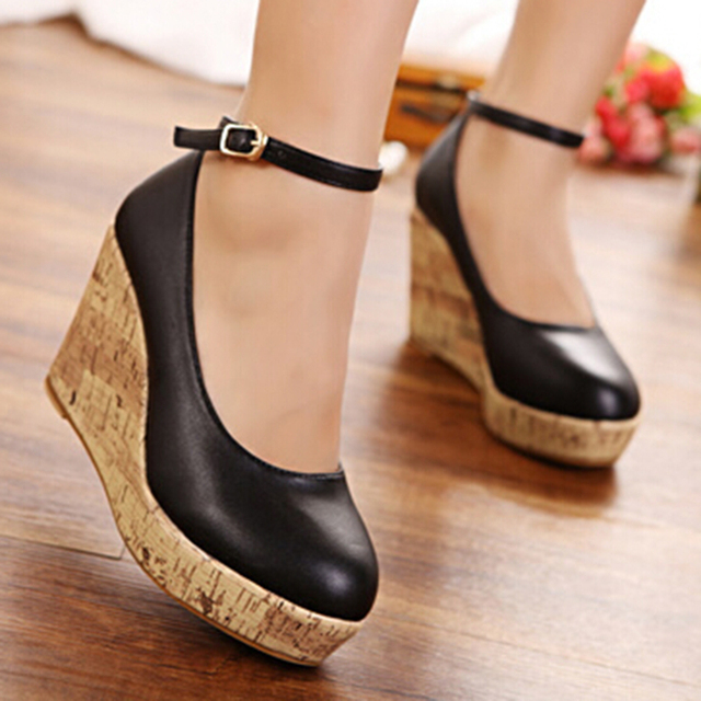 elegant Small size women's wedges platform shoes 30 31 32 33 40 41 42 43