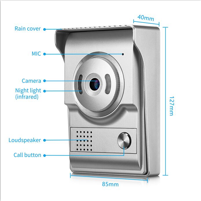 Door Phone Cameras For 4 Wire Cable Wired Video Door Phone Intercom Entry System