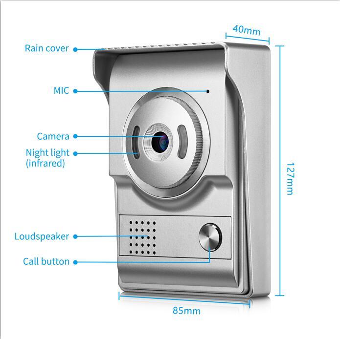 Door Phone Cameras For 4 Wire Cable Wired Video Door Phone ...