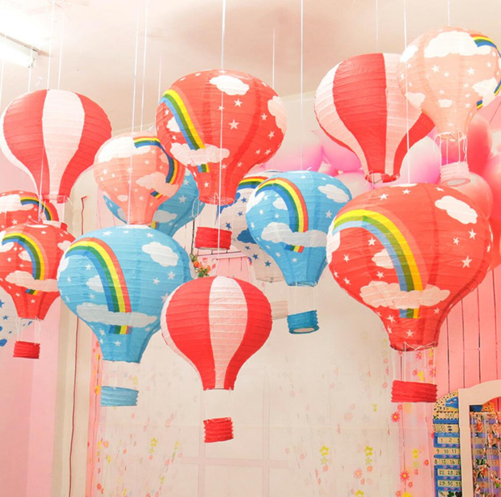 Hot 5pcs Lot 16 Party Accessory Parachute Paper Lantern Lampion Wedding Decor Birthday