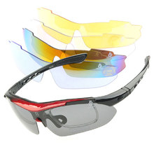 UV Cycling Eyewear Sunglasses Bicycle MTB Bike Riding Outdoor Sports Protective Glasses Goggles gafas ciclismo with Strap 5 lens