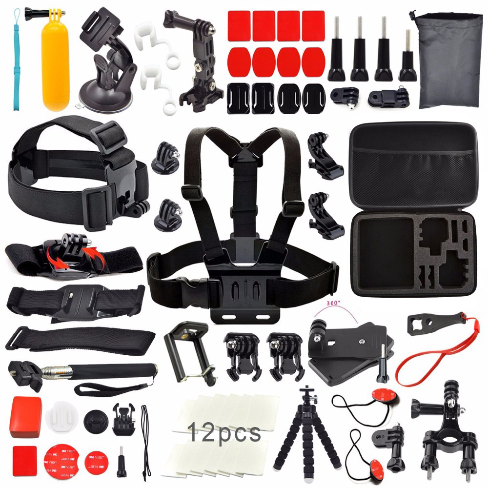 Go pro kit tripod Gopro accessories set for Sj Sj for Gopro