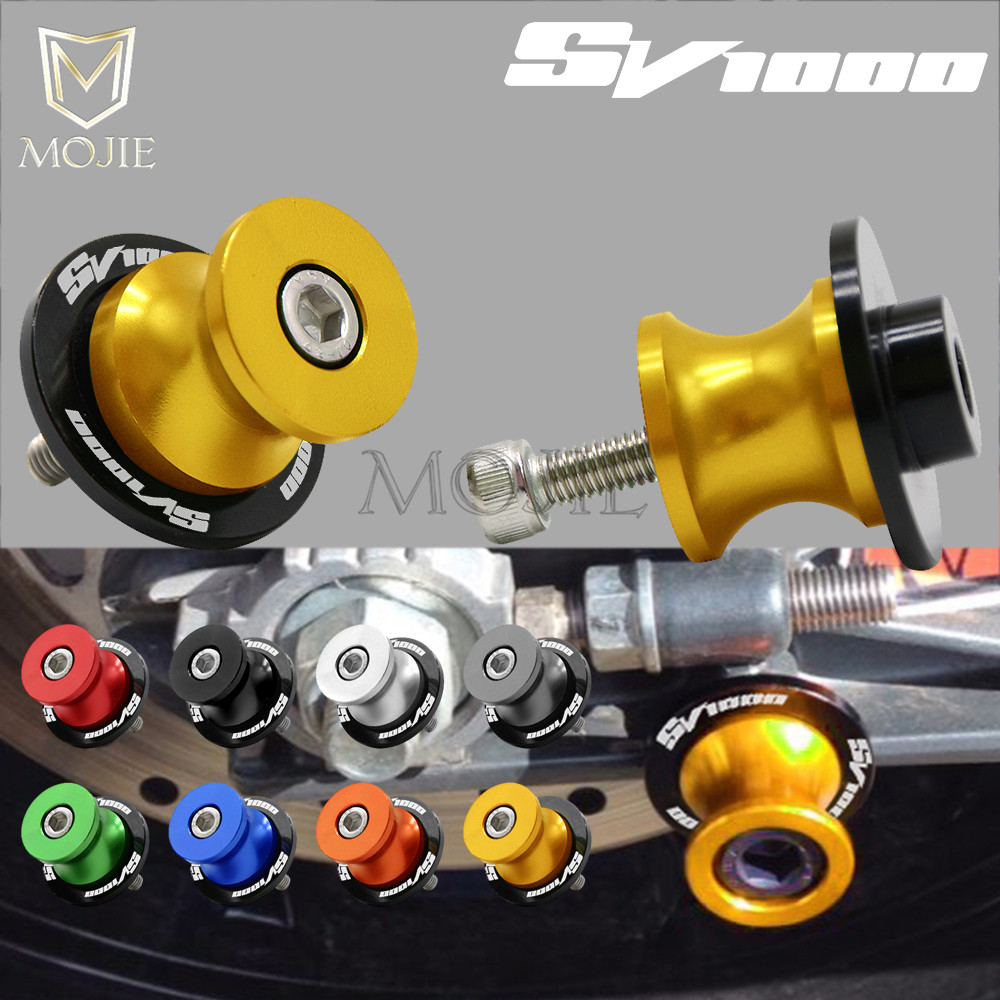 For SUZUKI SV1000 SV 1000 S SV1000S SV1000 S All Year Motorcycle 8mm CNC Swingarm Spools Slider Swingarm Stand Screws Slider ...