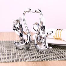 Cisne Vajilla Cuchara Tenedor Cubiertos de Cocina Juegos de Decorar Frutas Decoración Del Banquete de Boda Set Vajilla de Cocina Bar del Hotel(China (Mainland))