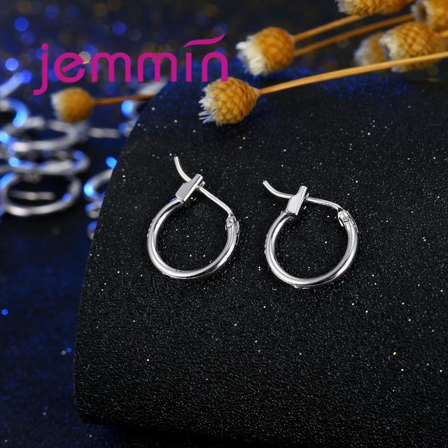 Jemmin Trendy DIY Fashion Earrings 925 Sterling Silver Hoop Earrings Findings Jewelry Components For Women Hand-made Accessories