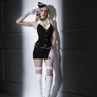 Women Sexy Lingerie Air Hostess Cosplay Costume Hot Airline Stewardess Uniform Sexy Student Uniform Temptation 6020