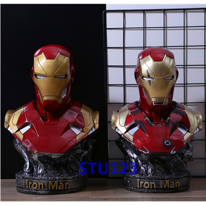 14.17The Avengers: Infinity War MK46 GK series Iron Man Half body statue Resin Crafts Action Figure Model Toy Boxed 36cm N89014.17The Avengers: Infinity War MK46 GK series Iron Man Half body statue Resin Crafts Action Figure Model Toy Boxed 36cm N890