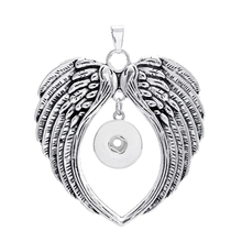 Wing Angel Buttons Pendant Jewelry Fit 18mm / 20mm DIY Snap Buttons for Buttons Jewelry Chains and Necklaces