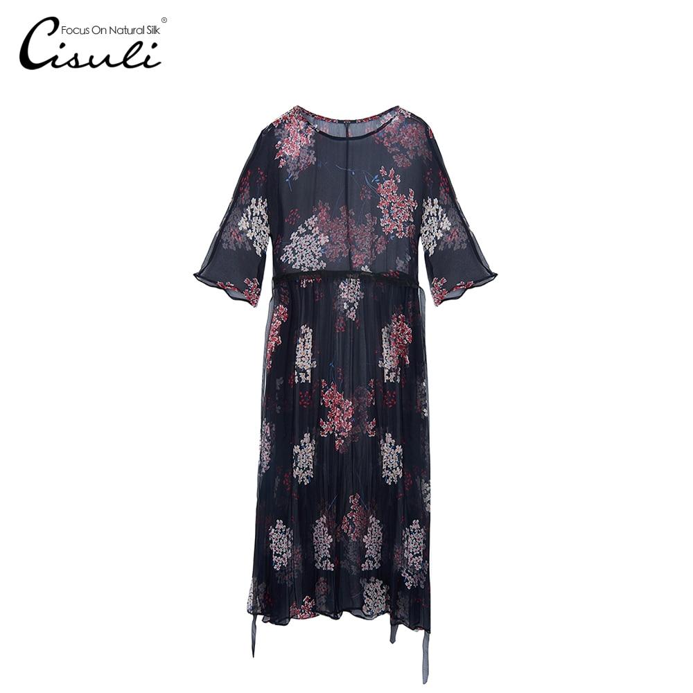 Confortable Bohême De 01 Soie D'été 2019 Robe Tissu Peau Tendance Style Mode Partie Femme 100 Nouvelle Geogette CwT6tqC