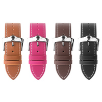 QIALINO Genuine Leather Strap For Apple Watch Band Stainless Steel Pin Buckle Watchband For Iwatch 42mm