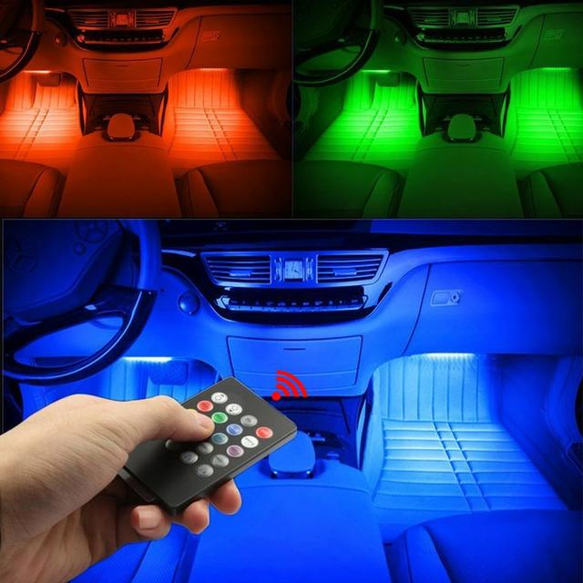 DC 5V LED Light Strip 4pcs LED Car Interior Lighting Kit Car Styling  Interior Decoration Atmosphere