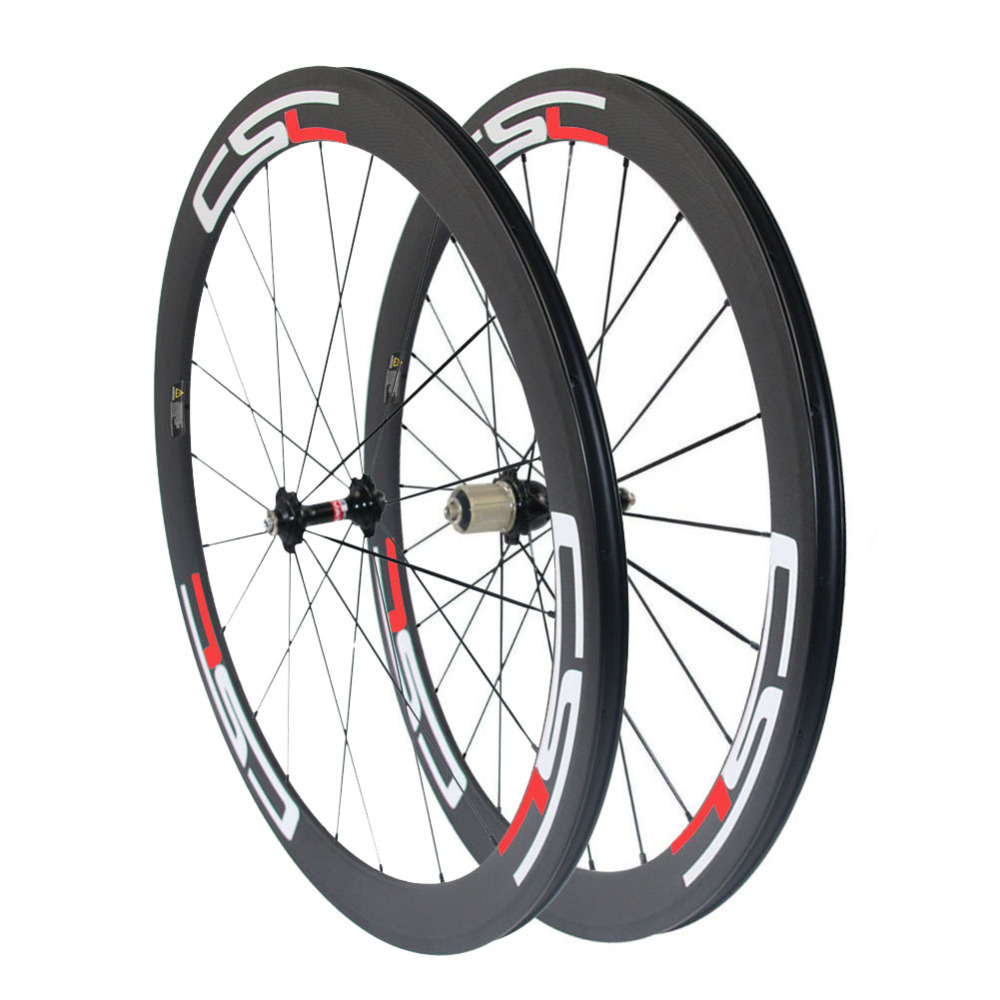 CSC U Shape 700C full carbon 50mm tubular wheels 25mm width Novatec hub for 8 9