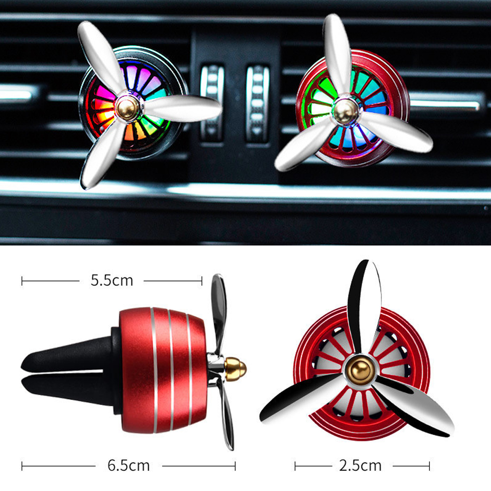 Image 3 - Air Freshener Car Smell LED Mini Conditioning Vent Outlet Perfume Clip Fresh Aromatherapy Fragrance Alloy Auto Cars Accessories-in Air Freshener from Automobiles & Motorcycles