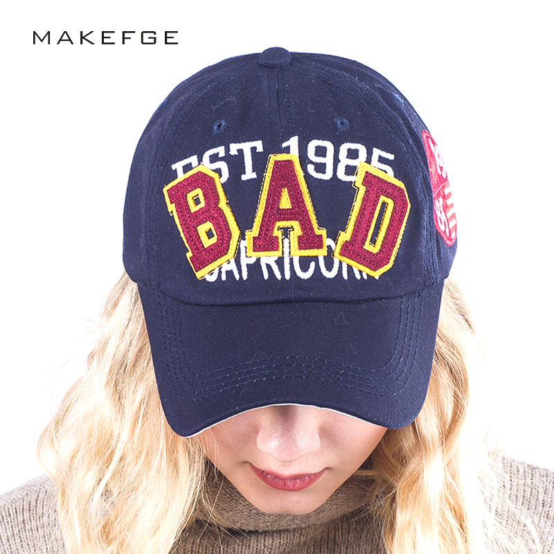 unisex casual baseball caps for men fashion 100%cotton letter BAD cap summer hip hop snapback women brand hat bone Hat wholesale [flb] fashion baseball cap embroidery snapback hat for men women cotton casual mesh caps hat unisex casquette wholesale f118