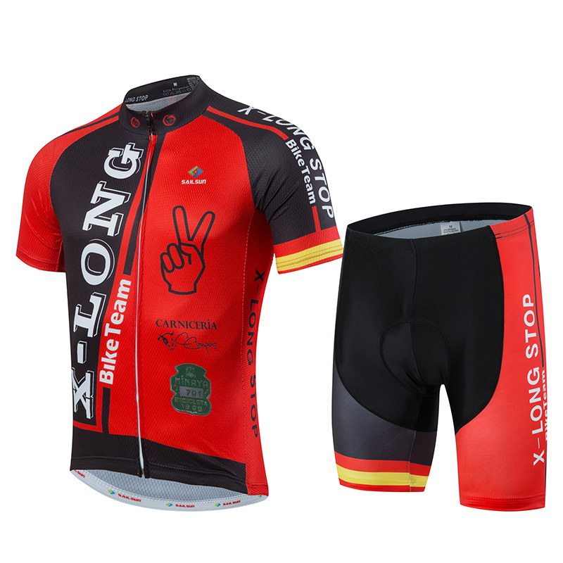 2017 Mens Cycling Jersey Short Sleeve Sets With GEL Bib Shorts Padded Bike Bicycle Outdoor Sportswear Cycling Clothing Red S-4XL 2016 summer patent leather buckle slides for women fashion stone upper flat platform ladies casual beach slippers sandals shoes
