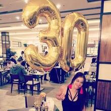 Grands ballons en aluminium de 40 pouces, en forme de chiffres, à Air et à hélium, décorations de fête d'anniversaire pour enfants