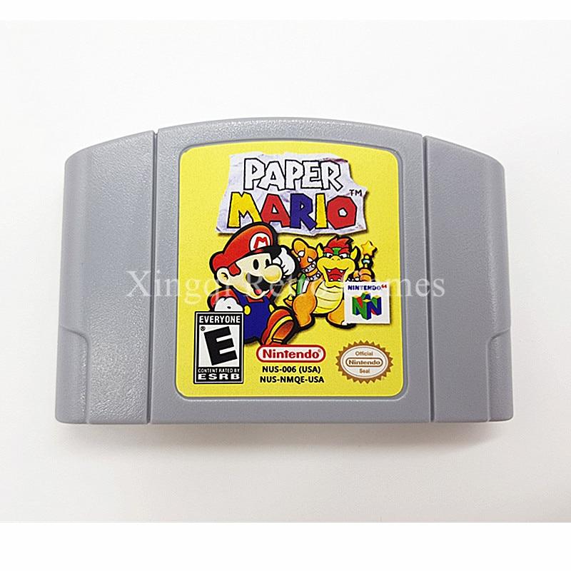 Nintendo 64 Game EUR PAL Version Paper Mario Video Game Cartridge Console Card