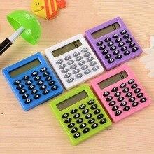 Мультяшный карманный мини-калькулятор 8 дисплеев цифр портативный камулятор Карманный Тип Монета калькулятор на батареях Канцелярский набор