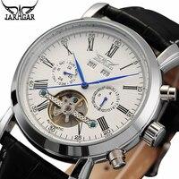 JARAGAR Men's Watches Tourbillon Auto Mechanical Mens Watches Top Brand Luxury Wrist Watch erkek kol saati Montre Homme