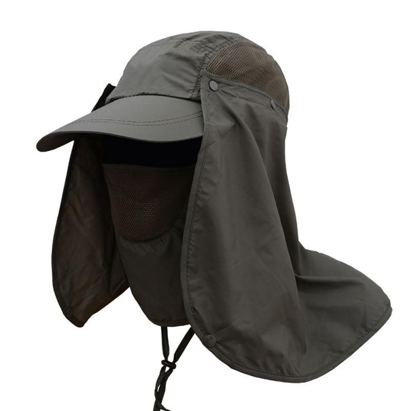 Sommer Outdoor Sonnenschutz Angeln Cap Neck Face Flap Hut Breiter Krempe Angelsport Bekleidung