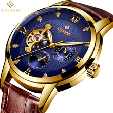 2018 WISHDOIT Top Brand Luxury Mechanical Watches Water Wristwatch Business Automatic Skeleton Watch Men Relojes Hombre Clock