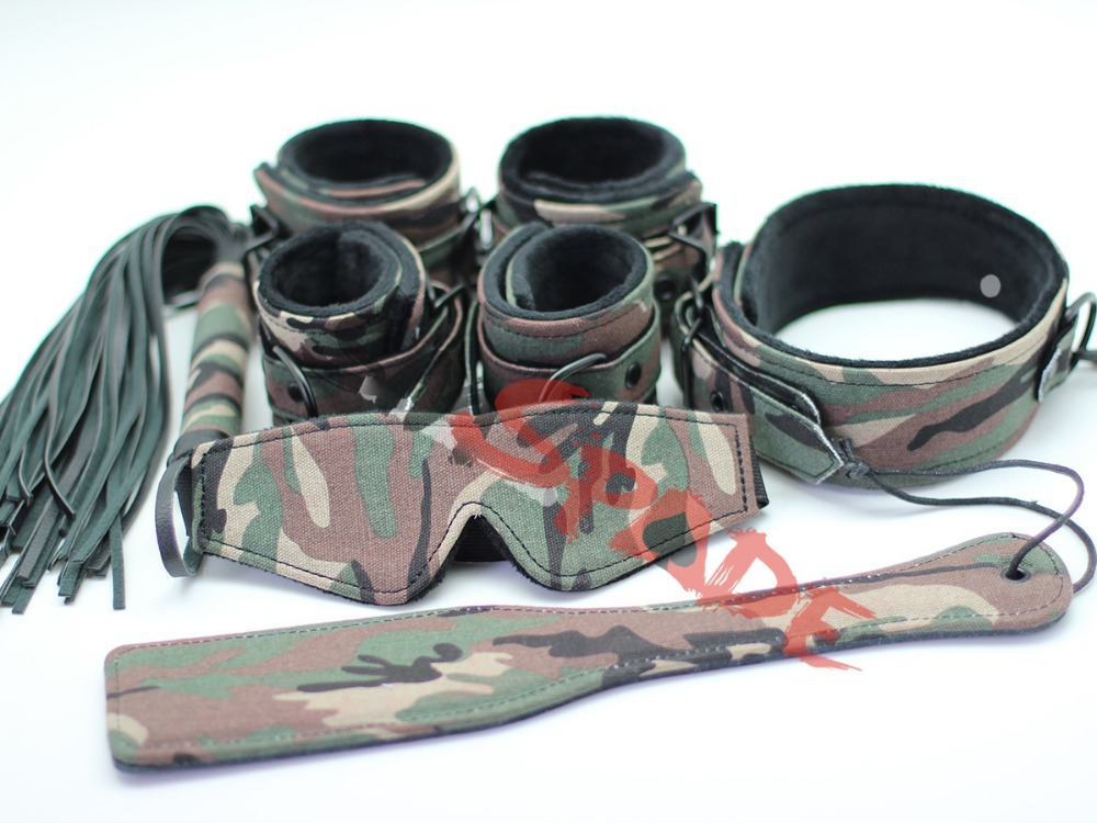 New sex restraint fetish gear,sex restraint cuffs,sex restraint collar for couple: wrist cuffs ankle cuffs collar flogger whip