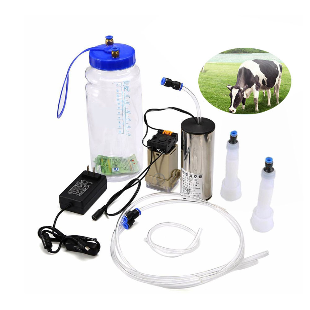 Electric Impulse type Milking Machine 2L Bottle and Vacuum Pressure Pump for Goat Sheep Cow Milking