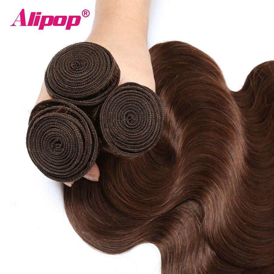 #4 Colored Body Wave Bundles Brazilian Hair 3 Bundles Light Brown Human Hair Weave Bundles Deals Hair Vendors Non Remy ALIPOP (4)