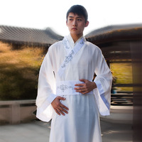 white han fu traditional han dynasty costumes for men han chao han chinese clothing white ancient chinese costume