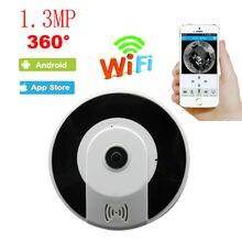 1.3MP 360 Degree VR Wireless Home IPC 960P wireless indoor Fisheye Panoramic WIFI IP Camera Support P2P Baby Monitor V380