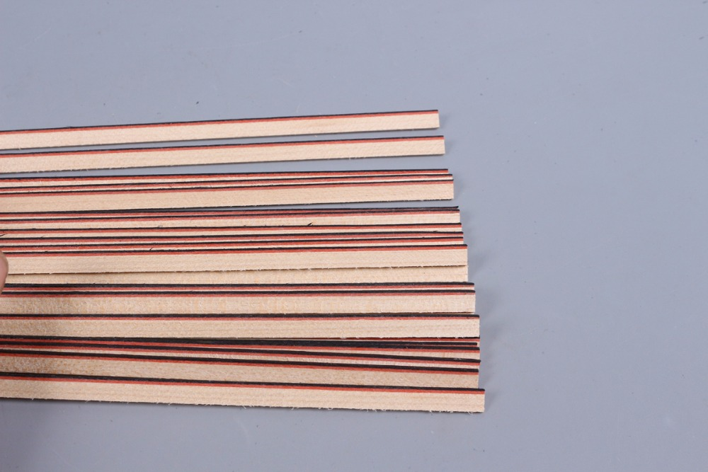 Bande de guitare bois Purfling reliure pièces de corps de guitare incrustation 840x6x1.5mm 169 #20 pcs